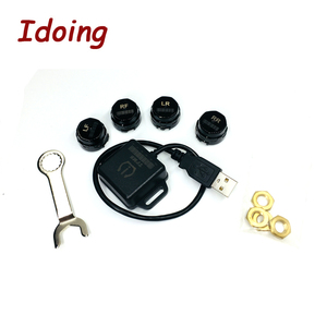 Image 5 - IDoing Special TPMS Newest technology Car TPMS Tire Pressure Monitoring System with mini Inner sensor Auto support Bar and PSI