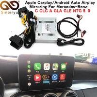 Sinairyu 2018 New IOS Car Apple Airplay Android Auto CarPlay Box For Benz A B C CLA GLA GLC GLE Class 15 17 NTG 5.0 OS System