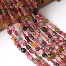5-8mm irregular natural genuino de turmalina perlas para joyería haciendo 15 pulgadas natural cuentas de piedra para manualidades pulsera