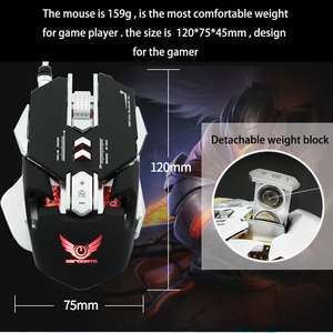 Image 4 - G9 برمجة الماكرو المهنية السلكية الألعاب Mause 3200 ديسيبل متوحد الخواص قابل للتعديل 7 أزرار USB بصري ألعاب ماوس الفئران ل جهاز كمبيوتر شخصي