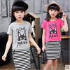 Kids Girls Short Sleeved Suit New Summer Children S Cotton Casual T Shirt Big Virgin Two