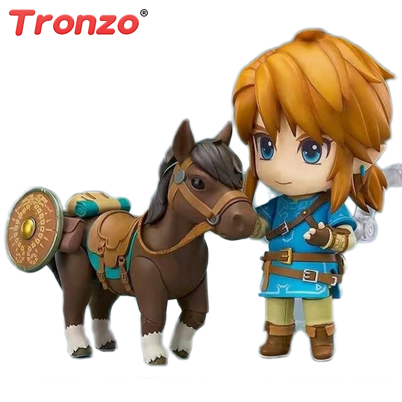 Tronzo 1pcs PVC The Legend of Zelda Plush Action Figure Toys Breath of the Wild Version Doll Kawaii Link Nendoroid Toys For Boy фигурка planet of the apes action figure classic gorilla soldier 2 pack 18 см
