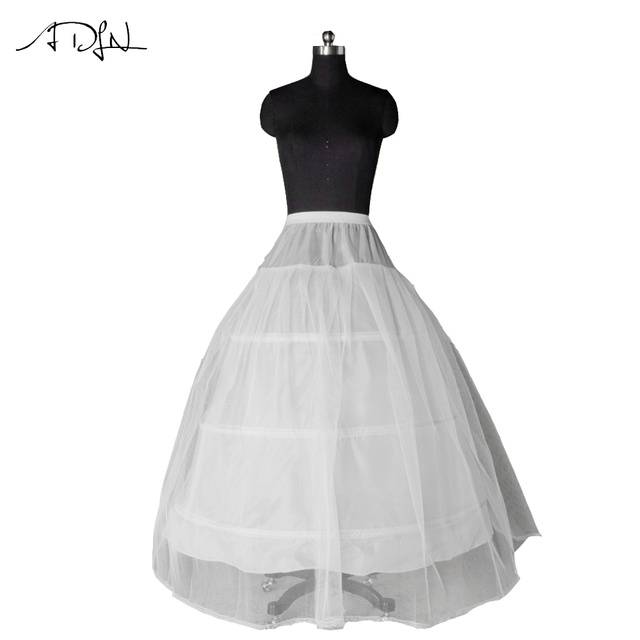 13360a85a86b Hot sale 3 HOOP Ball Gown BONE FULL CRINOLINE PETTICOAT WEDDING SKIRT SLIP  Adult NEW