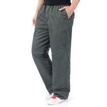 af5b77f35929c Winter Man Casual Cargo Pant Male Comfort Thicken Fleece Loose Trousers Men  Pant Side Pocket Men