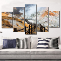 Modern Paintings Canvas 5 Piece Kit Painting Landscape Photography Printed On Cavans Fabric Wall Art For