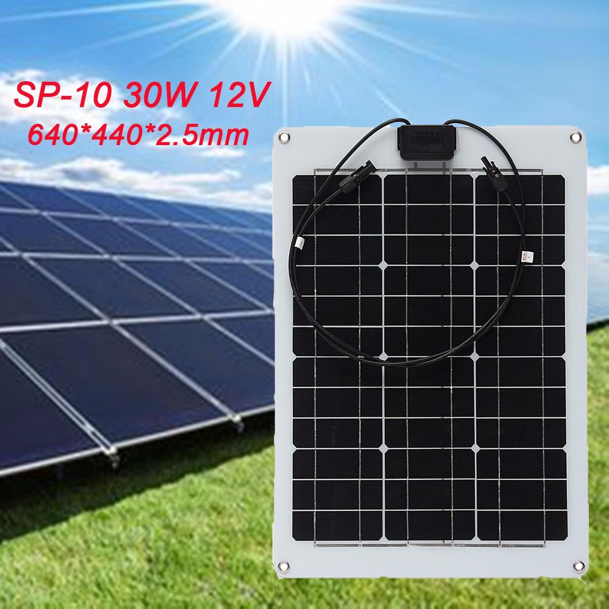 KINCO 30W 12V Sunpower Efficient single crystal flexible solar panels For Car Battery Phone Charger RT Boat High Conversion Rate