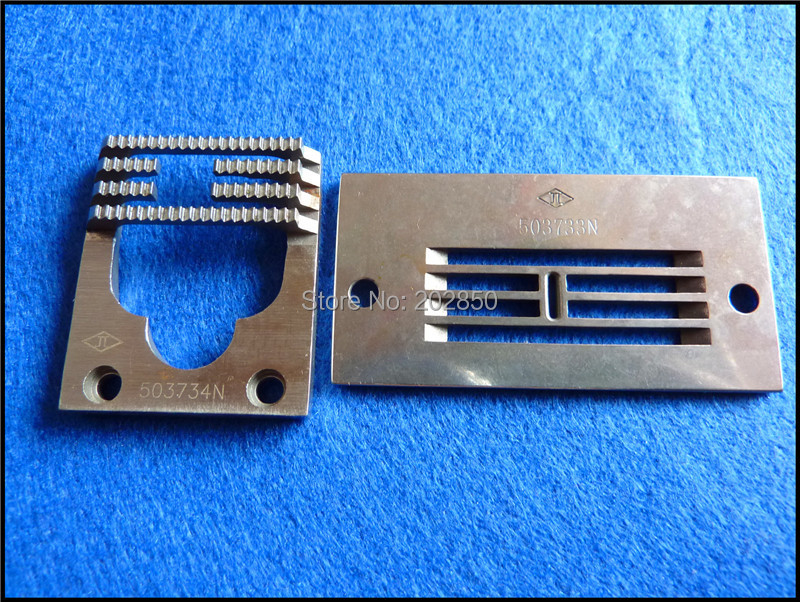 Needle Plate /& Feed Dog Set For Singer Industrial Zig-Zag Sewing Machine