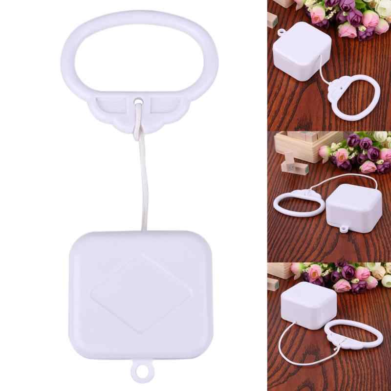 Pull Ring Music Box White ABS Plastic Pull String Infant Kids Clockwork Cord Music Box Infant Kids Bed Bell Baby Rattles Toys