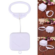 Pull Ring Music Box White ABS Plastic Pull String Clockwork Cord Music Box Baby Infant Kids Bed Bell Rattle Toy Baby Rattles