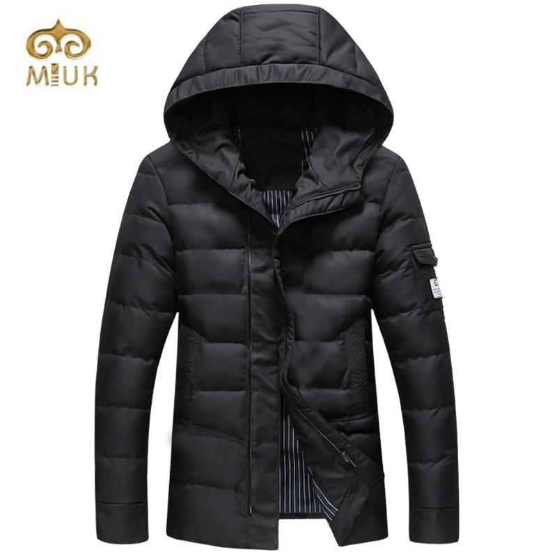 ФОТО 2016 Button Man Casual Big Size 3XL Black Navy Army Hooded Winter Thick Russian Federation Boys Solid Brand  Clothing