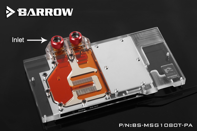 Barrow BS-MSG1080T-PA GPU Water Cooling Block for MSI GTX1080Ti GAMING X LRC 2.0