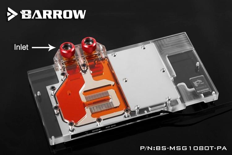 Barrow BS-MSG1080T-PA GPU Water Cooling Block for MSI GTX1080Ti GAMING X LRC 2.0