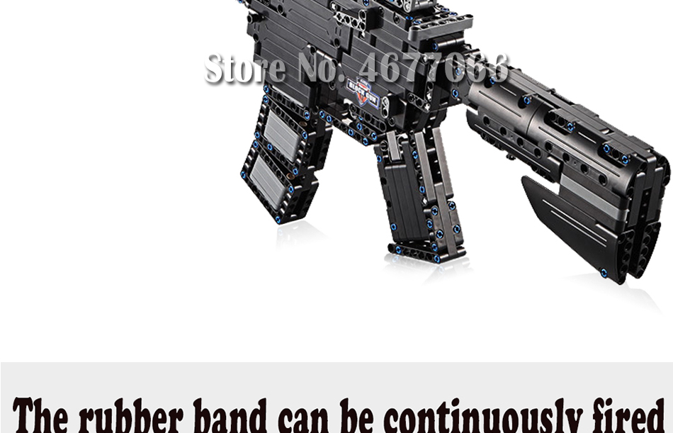 Legoed gun model building blocks p90 toy gun toy brick ak47 toy gun weapon legoed technic bricks lepin gun toys for boy 131