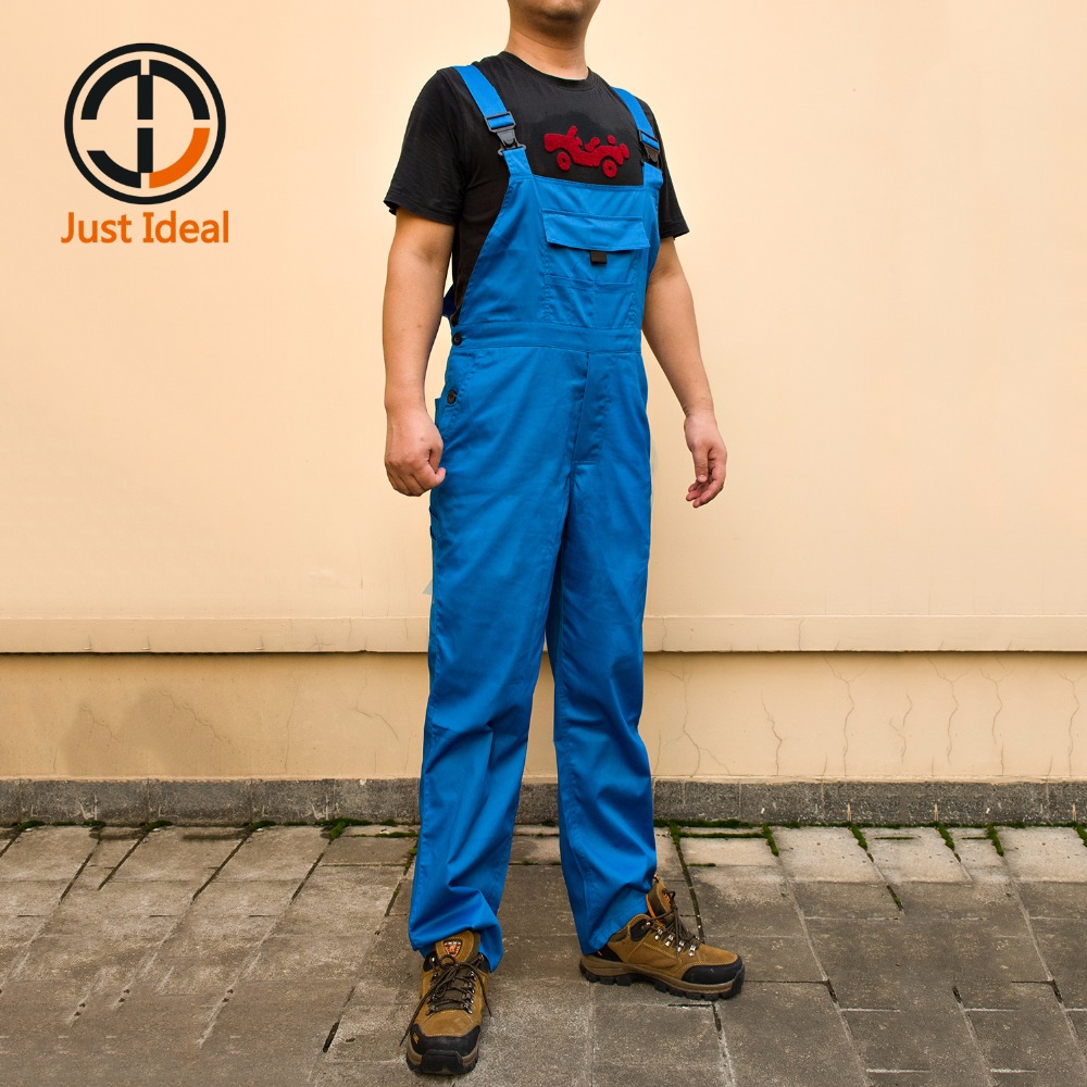 Mens Working Bib Pants Coverall Casual Overall Multi Pockets Cargo Bib Pants Plus Size Brand Clothing ID672