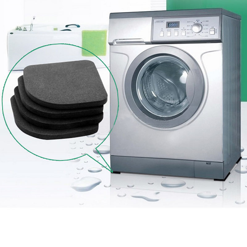 Bath & Shower 4pcs Stand For A Washing Machine Shock Pads Anti-vibration Pad For Washing Machine Non-slip Mats Refrigerator Multifunctional Fashionable And Attractive Packages