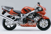 Hot Sales,Sportbike Fairing set kits For Honda CBR900RR 98 99 919 cbr rr 900 1998 1999 Orange and Black Motorcycle Fairings