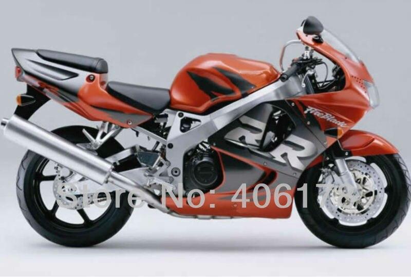 Ventas calientes, sportbike carenado kits para Honda CBR900RR 98 99 919 cbr rr 900 1998 1999 naranja y negro carenados de la motocicleta