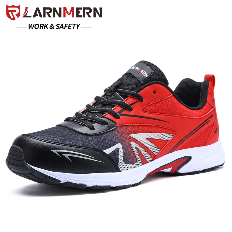 Larnmern Men Safety Shoes Lightweight Breathable Soft Fashion Special Work Casual Boots Outdoor Steel Toe Military Boat Shoes