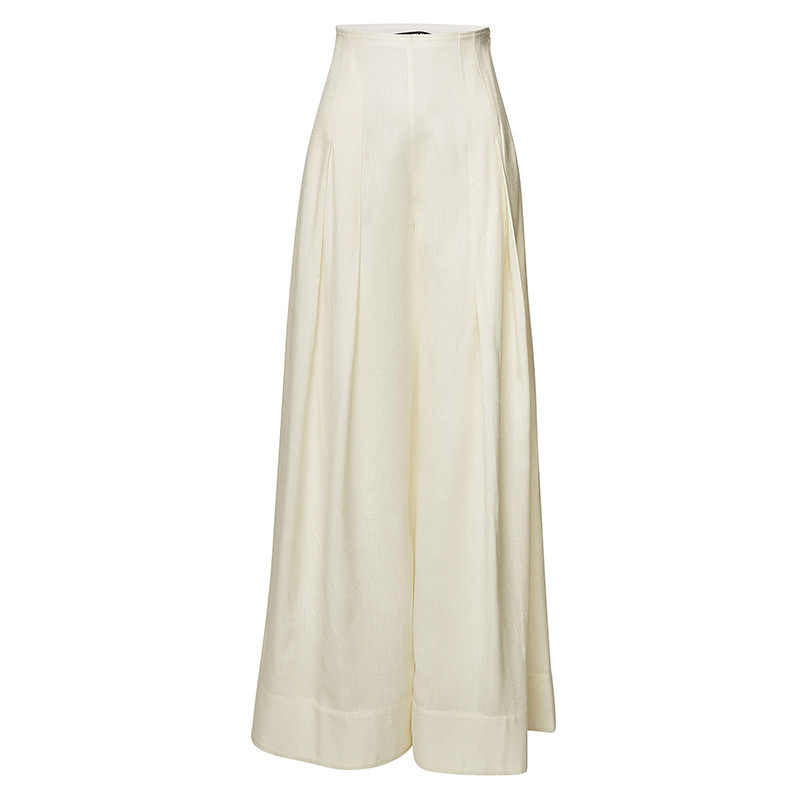 GETSRING Women Pants High Waist Wide Leg Pants Pleated Loose Long Trousers Vintage Summer Pants White Black Thin Trousers 2019
