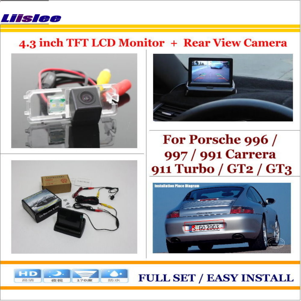 Liislee For Porsche 996 / 997 / 991 Carrera 911 Turbo Car Reverse Rear Camera + 4.3
