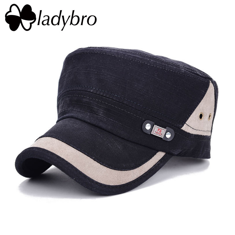 Ladybro Men Hat Cap Women Flat Army Hat Snapback Female Baseball Cap - Kledingaccessoires - Foto 2
