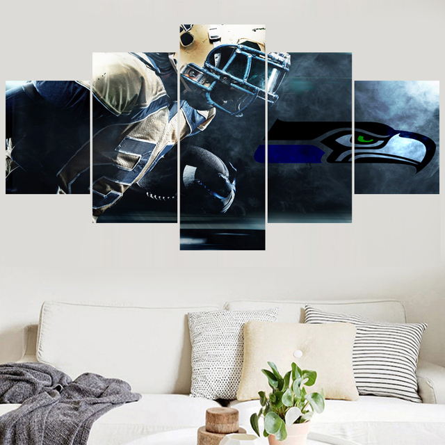 New Style Rugby Team Paintings Seattle Seahawks Modern Home Decor Best Lsu Bedroom Style Painting