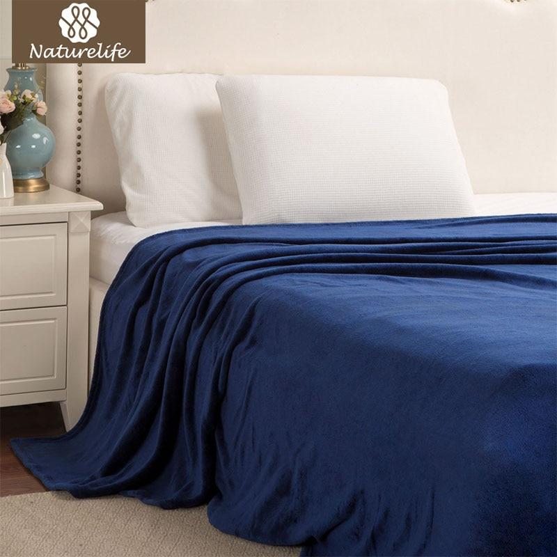Naturelife Flannel Blankets Warm Plush Blanket Super Soft Blanket on the Bed Home Plane Travel coperta Throws for Sofa Cobert