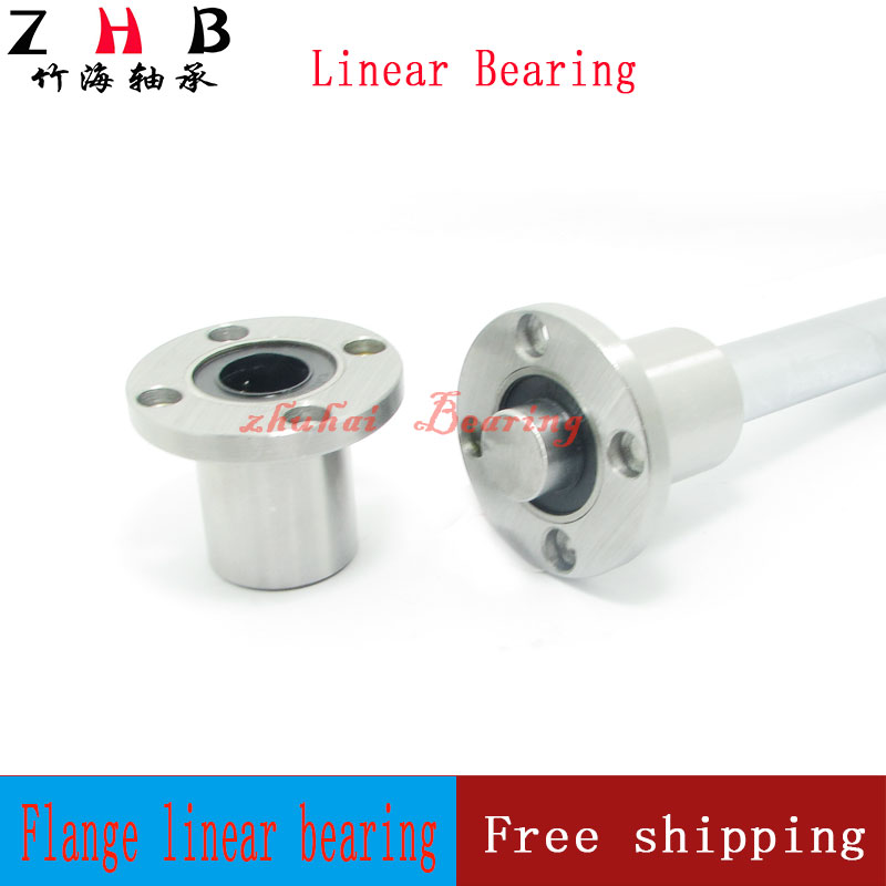 Free Shipping 1PC 6mm flange linear bearing LMF6UU flange linear motion bearing series cnc parts