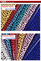12 Deep Blue High Quality Mirror PU Leather Fabric With Leopard Pattern For DIY Car Shoes