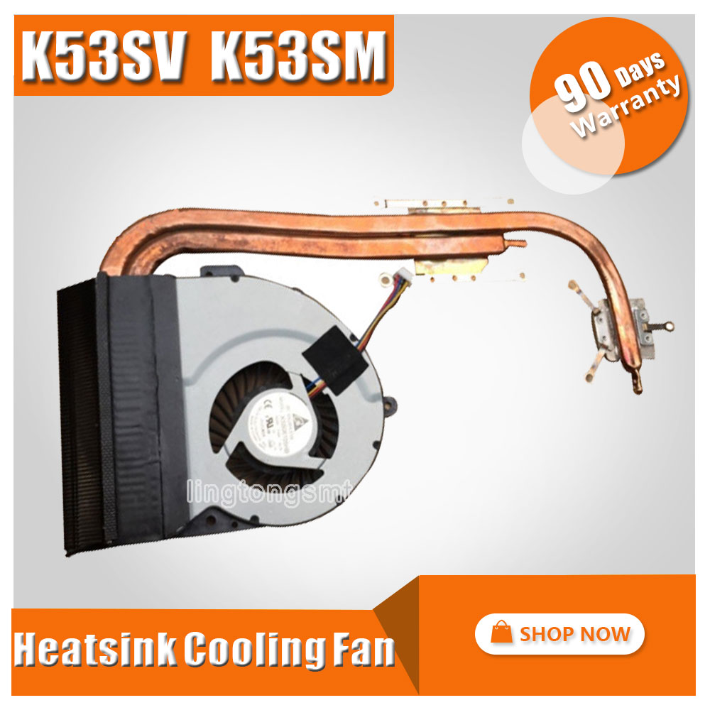 For ASUS K53 X53 K53S A53S X53S K53SV K53SM K53SJ K53SC Laptop CPU Cooling Fan Heatsink Heat Sink Cooler 13N0-KDA0102 KSB06105HB 2200rpm cpu quiet fan cooler cooling heatsink for intel lga775 1155 amd am2 3 l059 new hot