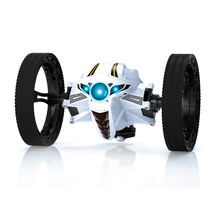 Robot RC Car Bounce With LED Sound Remote Control Car Rotation Jump Mini VehicleToys For Boys mini car peg sj88 2 4ghz bounce rc car with flexible wheel rotation led light remote control robot car toys for gifts rc car toy