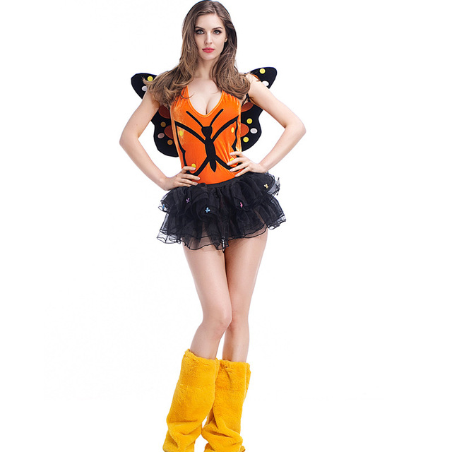 Womens Deluxe Sexy Monarch Butterfly Tutu Fairy Halloween Carnival Party Costume  sc 1 st  AliExpress.com & Womens Deluxe Sexy Monarch Butterfly Tutu Fairy Halloween Carnival ...