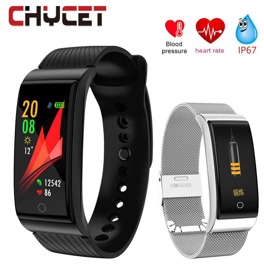 Smart Uhr Blutdruck Smartwatch Wasserdichte GPS Fitness tracker Uhr Herz Rate Monitor Smart Uhren Männer Frauen Armband