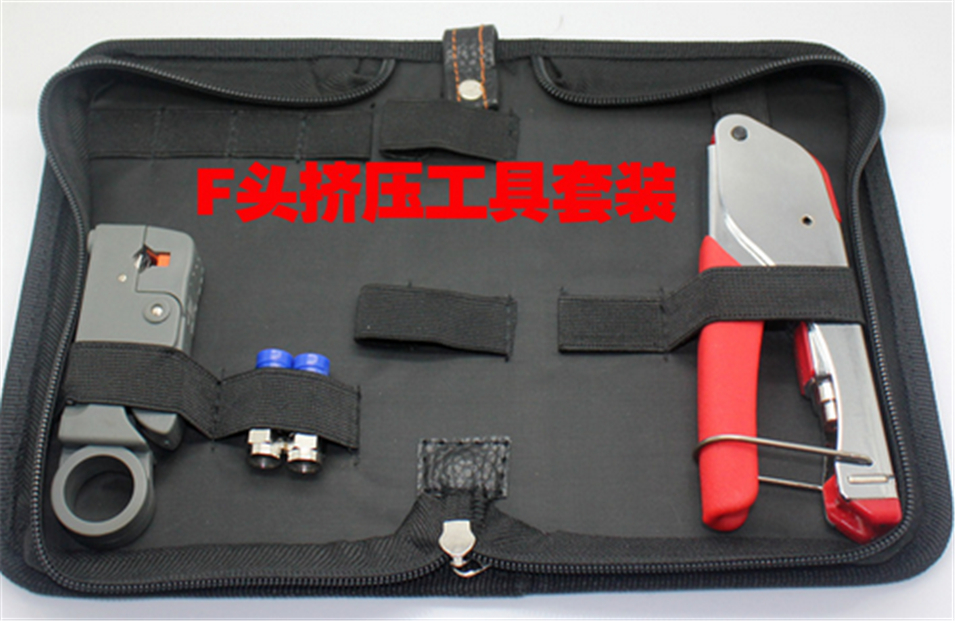 Cable Tape Crimping Set Wire Clamps Crimping Crimping Coaxial Cable F Crimping Pliers,