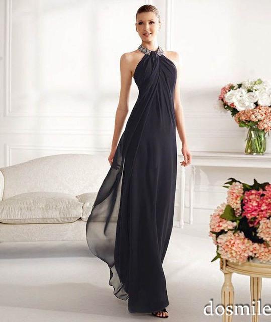 2016 elegante andar de comprimento plus size mãe da noiva vestidos halter cristais bainha mãe de vestidos de festa