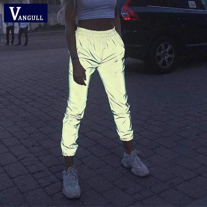 2a91a0c2dc7666 Vangull Night Noctilucent Pants Women Harem Pants Glisten Hip Hop Loose  Trousers 2019 New Spring Streetwear