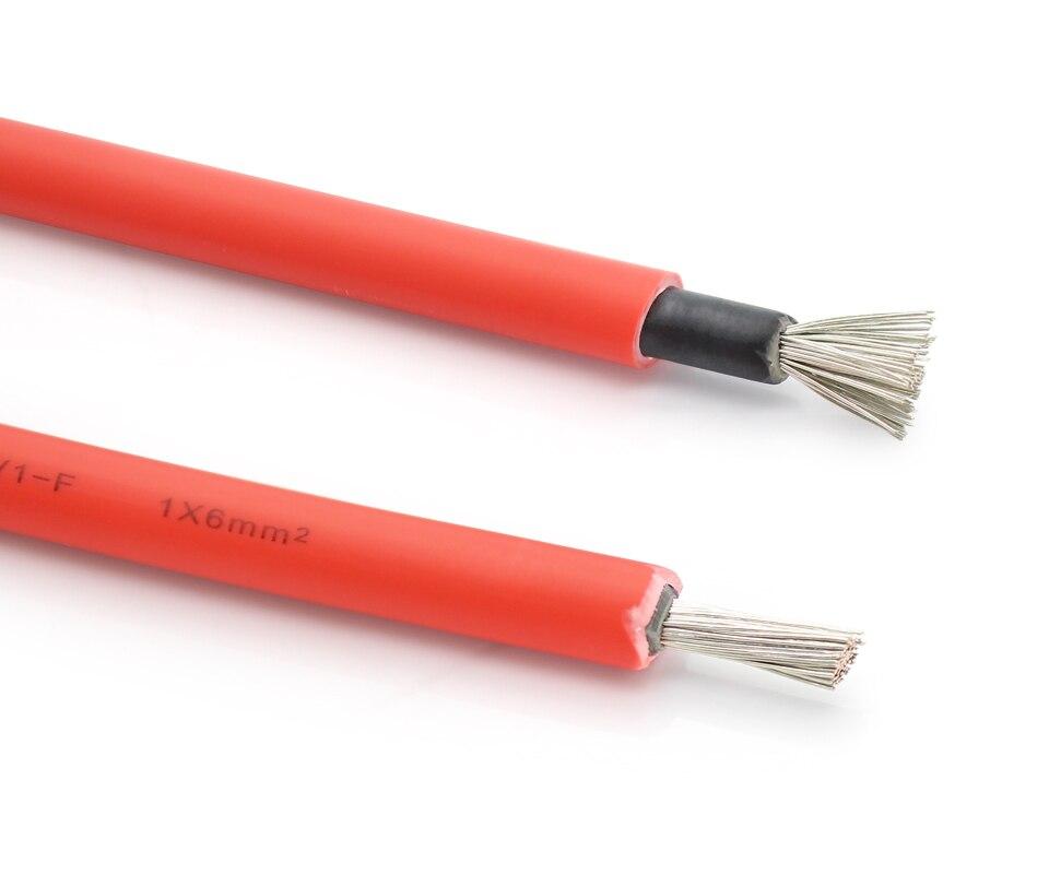 10 Meter Rollen 10AWG 6mm2 Solarkabel Rot oder Schwarz PV Kabel ...