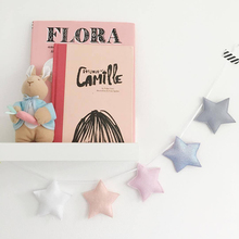 5pcs Nordic style star garland ornaments kids bedroom decoration wall hanging banner kindergarten decorative photography props