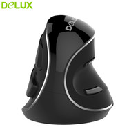 Delux M618 Plus M618 2.4GHZ Wireless Mouse Vertical Ergonomic Mice Optical 1600 dpi with Receiver Mouse Computer Peripherals