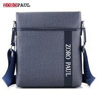 ZOROPAUL NEW Men Fashion PU Leather Men S Messenger Handbags High Quality Male Designer Shoulder Business