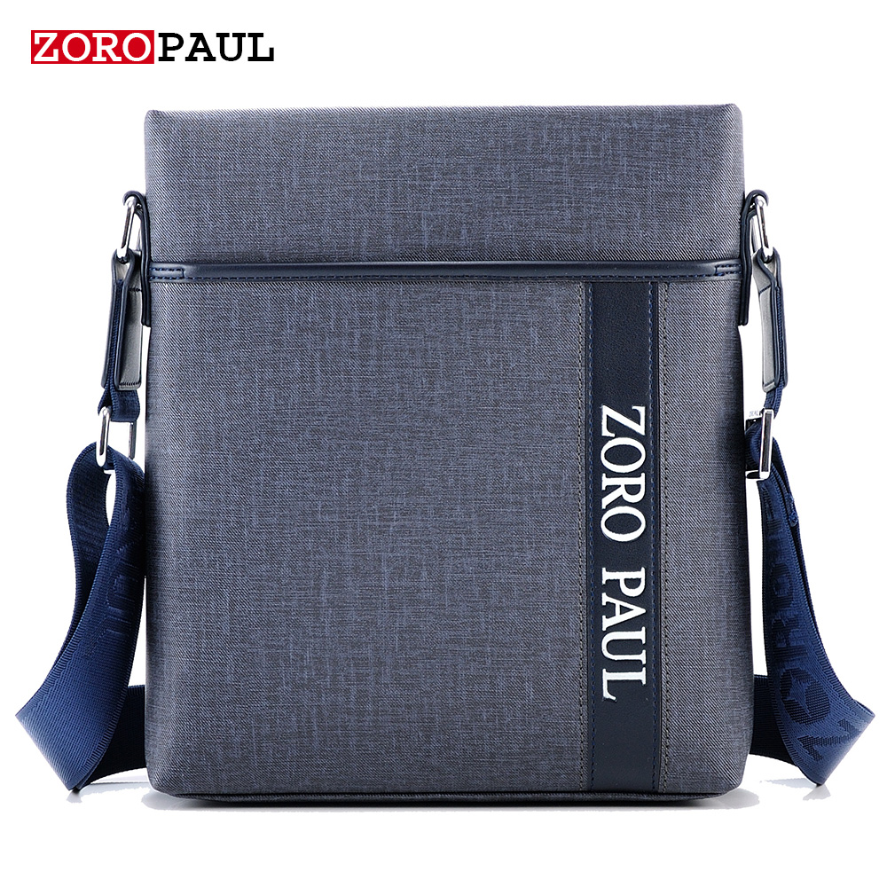 ZOROPAUL NEW Men Fashion PU Leather Men's Messenger Handbags High Quality Male Designer Shoulder Business Bags Men Crossbady Bag