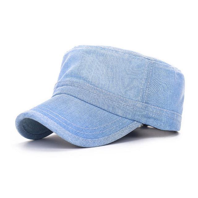 Jeans Cap Men Women Snapback Military Denim Caps Hats Solid Gorras Casquette Chapeu