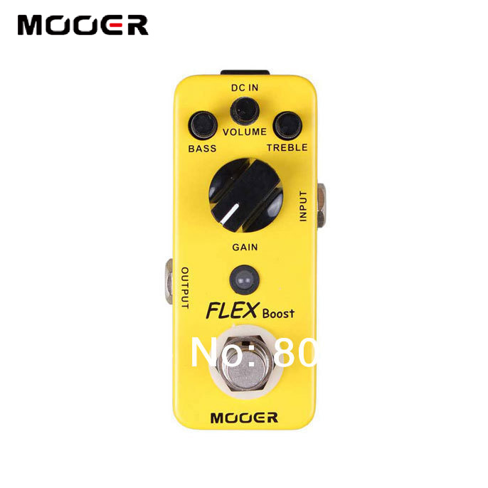 MOOER Flex Boost Guitar Pedal with Wide Gain Range Boost enough working along as a best overdrive mxr m133 micro amp gain boost pedal with level control led indicator and footswitch