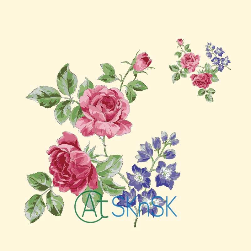 2pcs New Flower Patches For Clothing 20*17.56cm Heat Transfer Ironing - Arts, Crafts and Sewing
