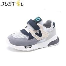 JUSTSL/Детская спортивная обувь; сезон осень-зима; Новая модная дышащая детская обувь для мальчиков; сетчатая обувь для девочек; нескользящие кроссовки; детская обувь