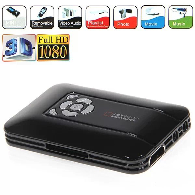 1080 P lecteur multimédia Full HD 1080P-TVBOX USB HDMI SD/MMC lecteur multimédia Multi TV avec télécommande