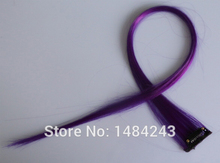 New hair jewelry 21″ solid color one clip on in hair accessories extensions 12 colors available synthetic hairwear