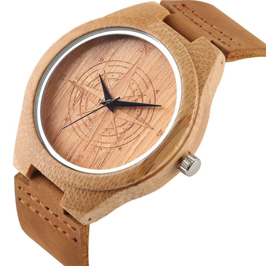 Unique Handmade Bamboo Wooden Clock Gifts Casual Quartz Wristwatch Watches Men Watches Top Brand Luxury relogio masculino (17)