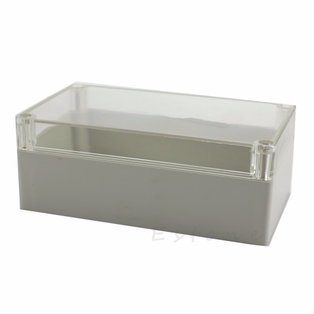 Clear Electronic Waterproof Project Box Enclosure Plastic Cover Case 158x90x60mm 200x120x75mm waterproof clear plastic electronic project box enclosure case l057 new hot