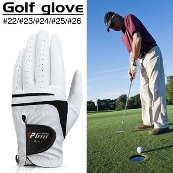 Rękawica golfowa męskie rękawice z owczej skóry miękkie oddychające z antypoślizgowymi rękawicami z granulatu tanie i dobre opinie Golf Gloves Support HH00135